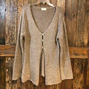 Soft Surroundings, L, Long Cozy Beige Cardigan